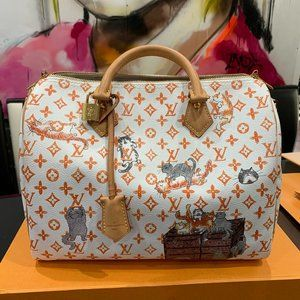 EXCLUSIVE Louis Vuitton Catogram Speedy Ivory Bag